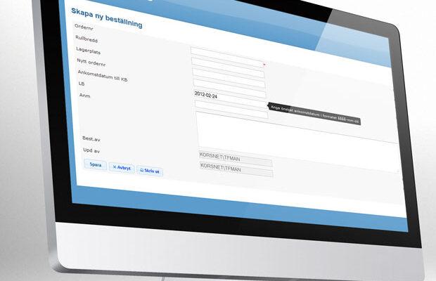 Webbaserat returhanteringssystem för pappersrullar