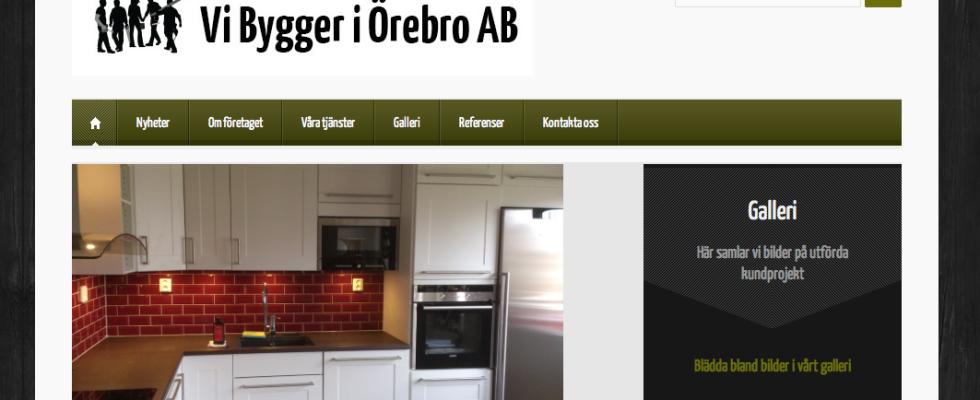 Vi Bygger i Örebros hemsida
