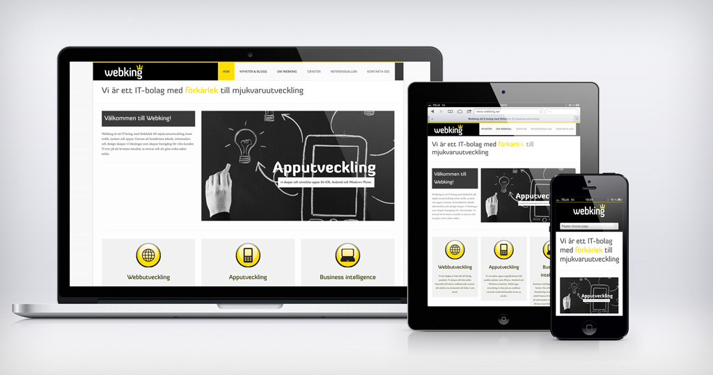 webking.se med responsive webbdesign