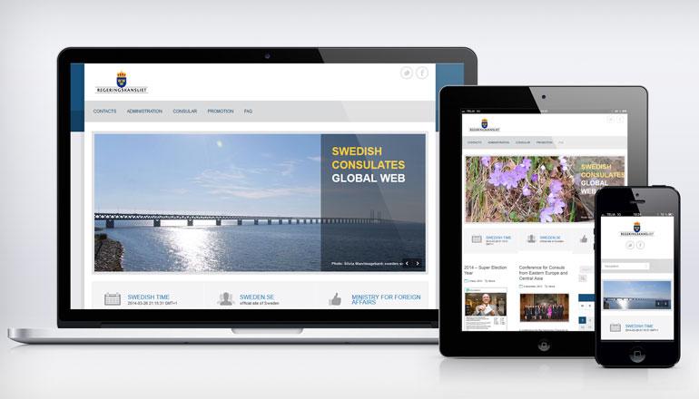Utveckling och design av utrikesdepartementets webbplats swedishconsulates.com