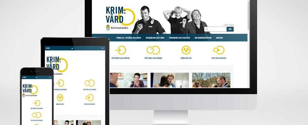 Kriminalvården webbplats - En fängslande sajt man vill stanna kvar på.
