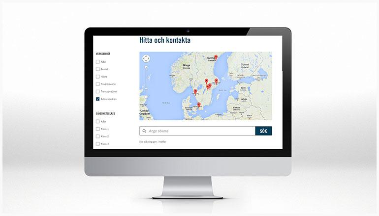 Kriminalvården webbplats hitta och kontakta