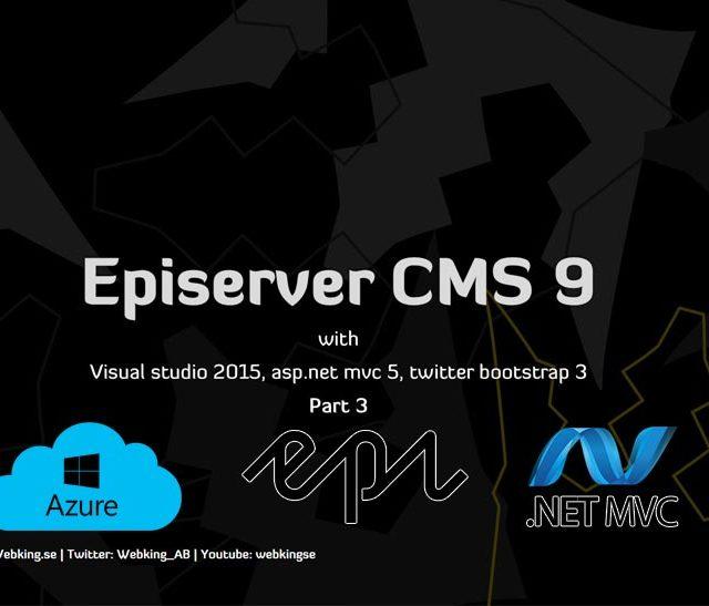 Episerver CMS 9 tutorial driftsätta din website till azure del 3