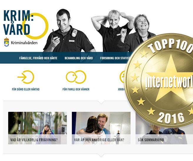 Kriminalvarden.se internetworl topp100 2016
