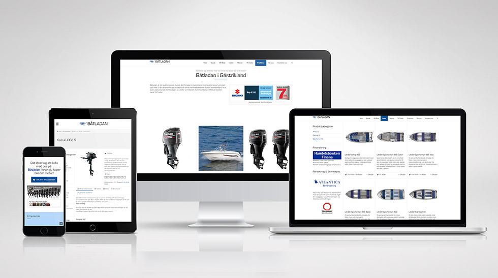 Båtladan i Gästrikland – hemsida med publiceringsverktyg