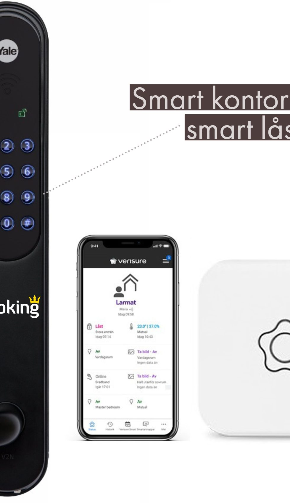 Webking säkrar kontoret med smarta lås