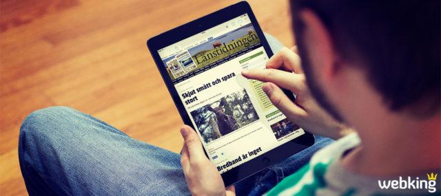 Nya funktioner ger flera prenumeranter och läsare till Länstidningen