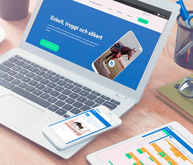 Whinny är ett webbaserat verktyg som hjälper hästägare och hästföretagare att planera och hålla koll på sina hästar.
