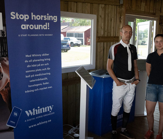 Whinny visas upp på Linköpings Horse Show