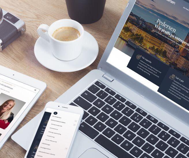 En ny hemsida ger Pedersen ökad synlighet och fler potentiella kunder